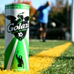 Golazo the logo and the can.